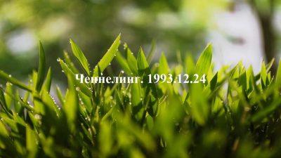 Ченнелинг Волжской группы. 1993-12-24