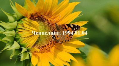 Ченнелинг Волжской группы. 1994-01-04